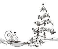 Kerstboom met nota's Stock Afbeelding