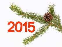 Kerstboom met pinecone Stock Foto's