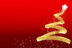 Kerstboom met rode achtergrond Royalty-vrije Stock Foto's