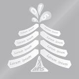 Kerstboom met ruimte voor het schrijven van wensen Royalty-vrije Stock Afbeelding