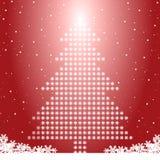 Kerstboom met sneeuwvlokken Royalty-vrije Stock Afbeeldingen