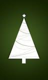 Kerstboom met ster Royalty-vrije Stock Foto