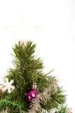 Kerstboom met ster op bovenkant Royalty-vrije Stock Foto's