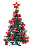 Kerstboom met ster op wit Stock Foto
