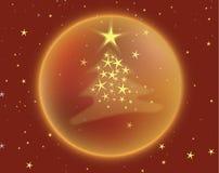 Kerstboom met sterren Stock Foto's