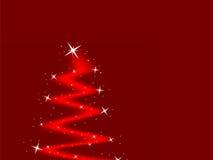 Kerstboom met sterren stock illustratie