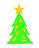 Kerstboom met Sterren - Weihnachtsbaum Stock Afbeeldingen