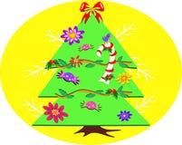 Kerstboom met Suikergoed vector illustratie