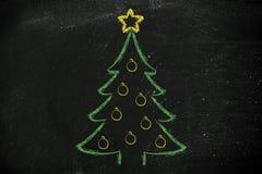 Kerstboom met vakantiewensen Royalty-vrije Stock Foto's