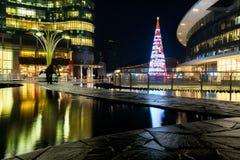 Kerstboom in Milaan Stock Afbeeldingen