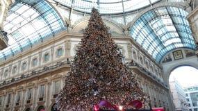 Kerstboom in Milaan, Italië Royalty-vrije Stock Afbeelding