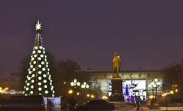 Kerstboom, Moskou Royalty-vrije Stock Foto's