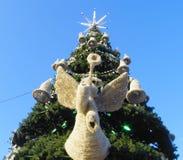 Kerstboom in Moskou Royalty-vrije Stock Afbeelding