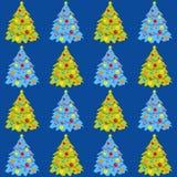 Kerstboom, naadloze achtergrond, behang, vectorillustratie vector illustratie