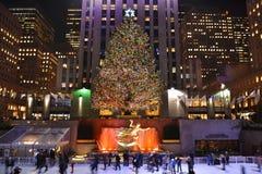 Kerstboom in New York Royalty-vrije Stock Afbeeldingen