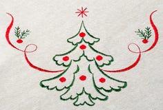 Kerstboom op canvas Royalty-vrije Stock Foto