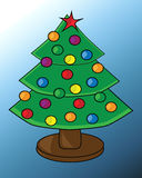 Kerstboom op drie niveaus Royalty-vrije Stock Afbeelding