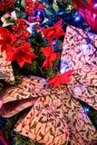 2017 Kerstboom op een prentbriefkaar Stock Afbeelding