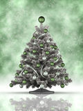 Kerstboom op groene achtergrond Royalty-vrije Stock Foto