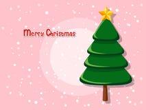 Kerstboom op kleurenachtergrond Gelukkig Nieuwjaar en decorativ Stock Afbeeldingen