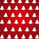 Kerstboom op rode achtergrond Stock Fotografie