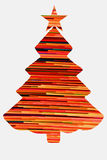 Kerstboom op Wit Royalty-vrije Stock Foto's