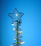 Kerstboom - prentbriefkaar Stock Foto's
