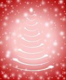 Kerstboom in rood 5 Stock Afbeelding