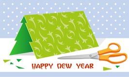 Kerstboom, schaar Stock Foto