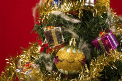 Kerstboom - sluit omhoog Stock Foto's