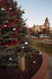 Kerstboom in solvang, Californië Stock Foto