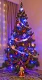Kerstboom thuis Stock Afbeelding