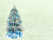 Kerstboom van de Kerstmislichten (spel met het licht) royalty-vrije stock foto's