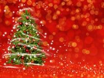 Kerstboom van de Kerstmislichten (spel met het licht) Stock Foto's