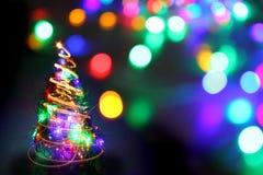 Kerstboom van de kleurenlichten Royalty-vrije Stock Foto