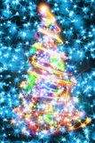 Kerstboom van de kleurenlichten Royalty-vrije Stock Afbeelding