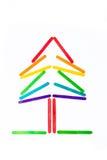 Kerstboom van de stok die van het kleurenroomijs wordt gemaakt Royalty-vrije Stock Afbeelding