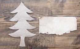 Kerstboom van document wordt gemaakt dat Royalty-vrije Stock Foto