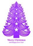Kerstboom van document wordt gemaakt dat - purple Royalty-vrije Stock Afbeeldingen