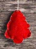 Kerstboom van gevoeld Royalty-vrije Stock Afbeeldingen