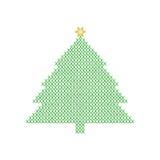 Kerstboom van groen x wordt gevormd dat Stock Afbeeldingen