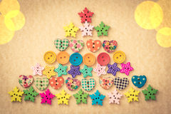 Kerstboom van knopen Royalty-vrije Stock Afbeeldingen