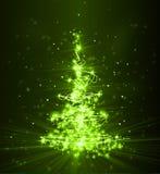 Kerstboom van licht royalty-vrije illustratie