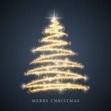 Kerstboom van lichte achtergrond Royalty-vrije Stock Foto