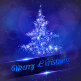 Kerstboom van lichte deeltjes wordt gemaakt dat. Stock Foto