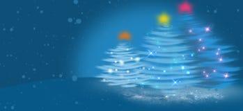 Kerstboom van lichte vectorachtergrond royalty-vrije stock foto