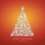 Kerstboom van lichte vectorachtergrond Royalty-vrije Stock Afbeeldingen