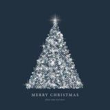 Kerstboom van lichte vectorachtergrond Royalty-vrije Stock Foto's