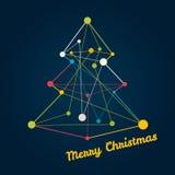Kerstboom van lijnen wordt gemaakt die Royalty-vrije Stock Afbeeldingen