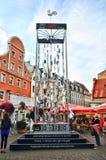 Kerstboom van Oude Stad Riga Stock Afbeelding